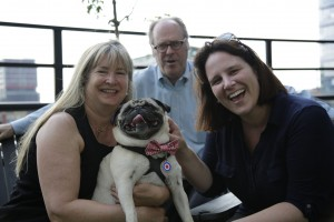 Fishstick Susie, Amy and writer Jeff at PetGuide Interview