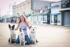 Sara and the Super Collies on the Jersey Shore